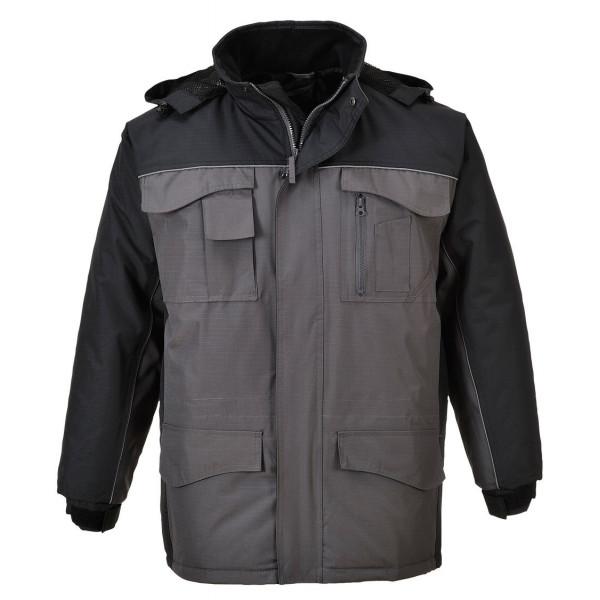 Водостойкая утепленная куртка Portwest S562, черный/серый