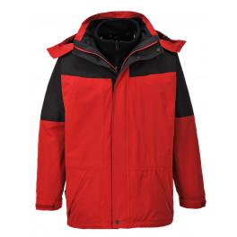 Водостойкая куртка Portwest S570 3 в 1. Красно-чёрный