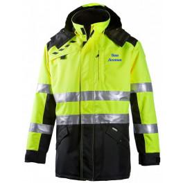 Сигнальная куртка-парка Dimex 694 для ИТР, сигнальный желтый/черный