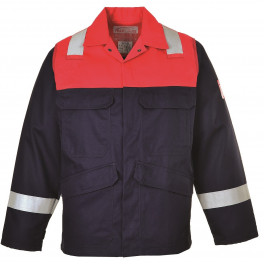 Антистатическая огнеупорная куртка Portwest FR55, сигнальный красный/синий