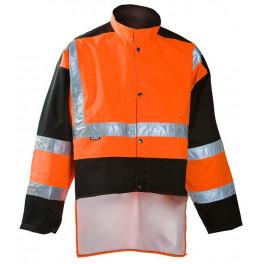 Плащ-дождевик лесоруба Dimex 859, сигнальный оранжевый/черный