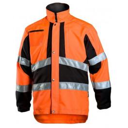 Рабочая куртка лесоруба Dimex 832 для работы с кусторезом, сигнальный оранжевый/черный