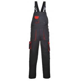 Рабочий полукомбинезон Portwest (Англия) TX12, Черный / красный