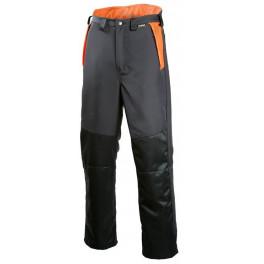 Рабочие брюки лесоруба Dimex 833 для работы с кусторезом, серый/черный/оранжевый
