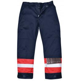 Антистатические огнеупорные брюки Portwest FR56, сигнальный красный/синий