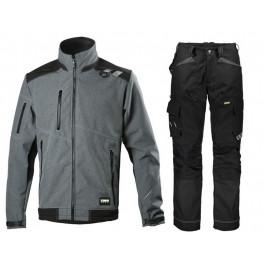 Летний костюм Dimex 6051+6060, серый/черный