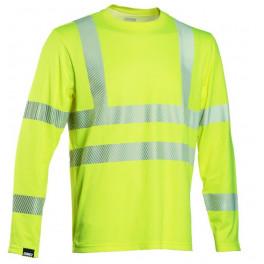 Сигнальная футболка с длинными рукавами Dimex 4248+, сигнальный желтый
