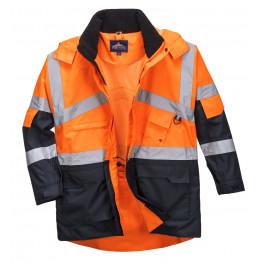 Сигнальная рабочая куртка Portwest S760, Оранжевый / Темно-синий