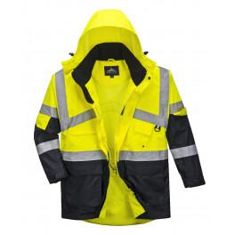 Сигнальная рабочая куртка Portwest S760, Желтый / Темно-синий
