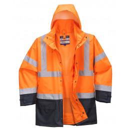 Зимняя светоотражающая куртка Portwest  S768, 5в1, оранжевый/темно-синий