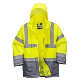 Зимняя светоотражающая куртка Portwest  S768, 5в1, желтый/серый