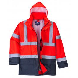 Зимняя светоотражающая куртка Portwest  S768, 5в1, красный/темно-синий
