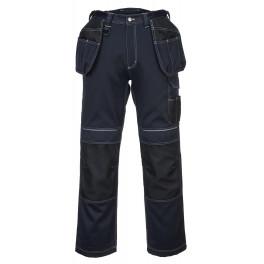 Брюки с навесными карманами Portwest T602, темно-синий/черный