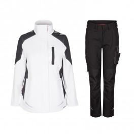 Женский летний костюм Engel 8815+2815, белый/черный
