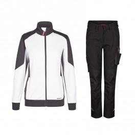 Женский летний костюм Engel 8825+2815, белый/черный