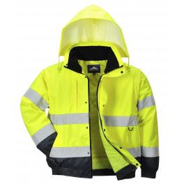 Зимняя светоотражающая куртка Portwest C468 2в1, желтый