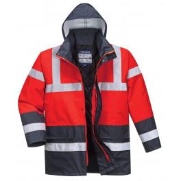 Зимняя светоотражающая куртка Portwest  S466, красный/темно-синий