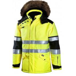 Зимняя куртка-парка Dimex PLUS 695 для ИТР, сигнальный желтый/черный