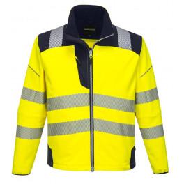 Куртка Софтшэлл Portwest T402, сигнальный желтый/темно-синий