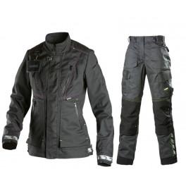 Женский летний костюм Dimex 6049+6029. темно-серый/черный