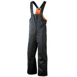 Рабочий полукомбинезон-дождевик лесоруба Dimex 860, черный/оранжевый